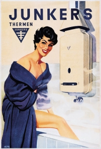 Glamour selling boilers in the 1950s
