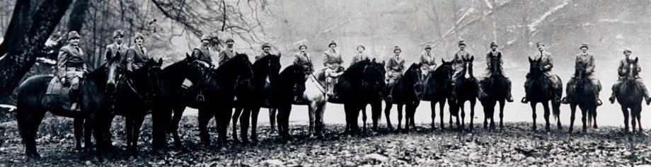 parade of mounted nurses