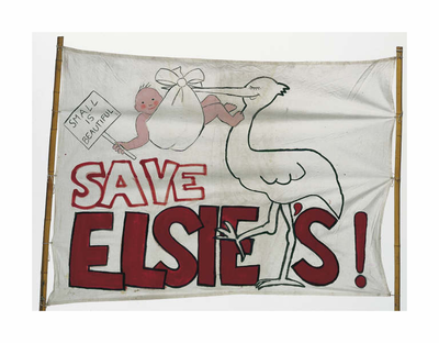 Campaign banner from the 1990s - courtesy of Capital Collections