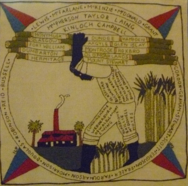 Jamaican panel from the Scottish Diaspora Tapestry