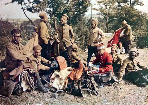 French troops from North Africa on the Western Front. Courtesy The Great War in Color